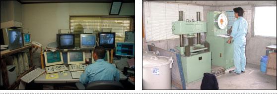 王生工業 生コンクリート製造監視室